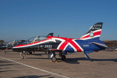 BAe Hawk on the flight lane Royalty Free Stock Image