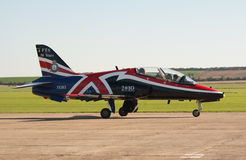 BAe Hawk taxis for takeoff Royalty Free Stock Photo