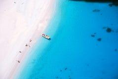 Baeach sull'isola della Zacinto - baia di Navagio Fotografia Stock