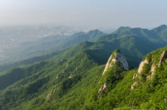 Baegundae peak, Bukhansan mountains in Seoul, South Korea Stock Image