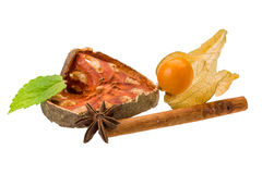 Bael with cinnamon and star-anise Stock Photo