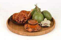 Bael frais et sec, bael de sucrerie et bael de l'eau, fruit de la Thaïlande Photos libres de droits