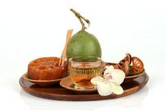 Bael frais et sec, bael de sucrerie et bael de l'eau, fruit de la Thaïlande Photographie stock