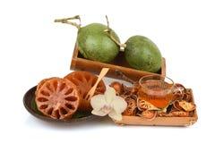 Bael frais et sec, bael de sucrerie et bael de l'eau, fruit de la Thaïlande Photo stock