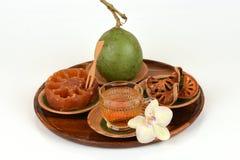 Bael frais et sec, bael de sucrerie et bael de l'eau, fruit de la Thaïlande Photographie stock libre de droits
