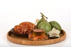 Bael frais et sec, bael de sucrerie et bael de l'eau, fruit de la Thaïlande Image stock