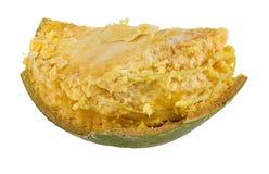 Bael-Frucht- oder hölzerne Apfelfrucht Aegle-marmelos auf einem Weiß Lizenzfreie Stockfotos