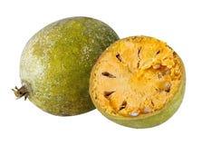 Bael-Frucht- oder hölzerneapfelfrucht Lizenzfreies Stockfoto