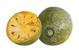 Bael-Frucht- oder hölzerneapfelfrucht Stockbilder