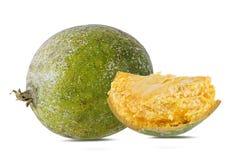 Bael-Frucht- oder hölzerneapfelfrucht Stockfotografie