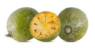 Bael-Frucht- oder hölzerneapfelfrucht Stockfoto