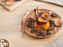 Bael juice and cinnamon sticks in a glass Stock Image
