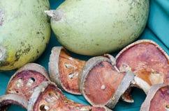 Bael (marmelos de Aegle) Fotos de archivo