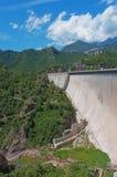 Baells水坝在Bergueda,卡塔龙尼亚,西班牙 免版税库存照片