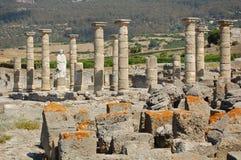 baelo克劳迪亚罗马废墟 免版税库存照片