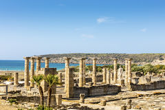 Baelo克劳迪亚考古学站点在西班牙 库存图片