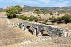 Baelo克劳迪亚考古学站点在西班牙 免版税库存照片