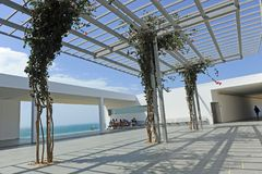 Baelo Claudia gościa centrum w Tarifa, prowincja CÃ ¡ diz, Hiszpania zdjęcia royalty free