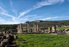 Baelo Claudia rzymianina ruiny. Tarifa, Cadiz, Hiszpania fotografia stock