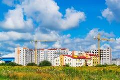 baenny建筑用起重机住房增强新的负荷 库存图片
