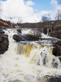 Baerums Verk, Norway. The waterfall at Baerums Verk, a tourist destination near Oslo in Norway Stock Photography