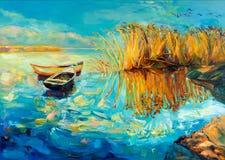 Baeutiful jezioro royalty ilustracja