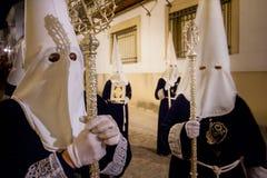 Baeza, Andalusia, province of Jaén, Spain - Semana santa royalty free stock photo