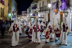 Baeza, Andalusia, provincie van Jaén, santa van Spanje - Semana- Royalty-vrije Stock Afbeelding