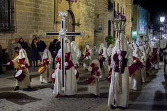 Baeza, Andalusia, provincie van Jaén, santa van Spanje - Semana- Stock Foto