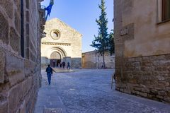 Church of the Holy Cross of Baeza, Andalusia royalty free stock photos