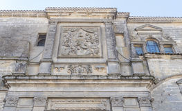 Baeza domkyrkafasad, Jaen, Spanien Royaltyfria Bilder