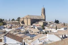 Baeza Kathedraal, Baeza de Erfenisplaats van de stadswereld, Jaen, Spanje royalty-vrije stock afbeeldingen