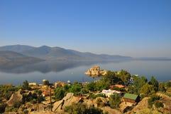 Bafa湖在土耳其 库存照片