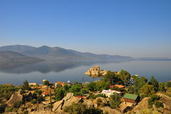 Bafa lake in Turkey Stock Photo