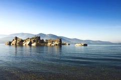 bafa widok grodowy jeziorny Zdjęcie Royalty Free
