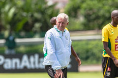 Bafana Bafana G Egesund. Team together with coach Gordon Egesund Stock Photo