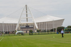 Bafana Bafana Gordon Egesund Stadium. Moses Mabhida stadiium in Durban South Africa. Photo image Coach Gordon Egesund of Bafana Bafana Stock Photos