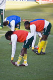 Bafana Bafana in Opleiding Royalty-vrije Stock Afbeeldingen