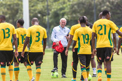 Bafana Bafana Team Coach. Team players together with Gordon Egesund and coaching staff Royalty Free Stock Image