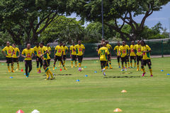 Bafana Bafana Team Practice. Team together with coaching staff training before their  match Royalty Free Stock Images