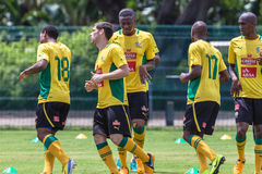 Bafana Bafana Warm Up Stock Images