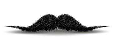 Baffi di incanto per il carnevale dei baffi o del parrucchiere Facial d'annata dei baffi, illustrazione nera riccia divertente de royalty illustrazione gratis