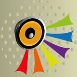 Baffle. On special background, vector illustration Stock Images