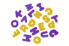 Baffled letters Stock Photography