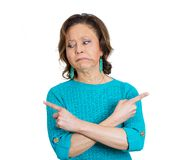 Baffled mature woman Royalty Free Stock Photo
