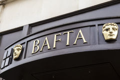 BAFTA在伦敦 库存图片