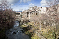 Bagà.Small village in the pyrenees Stock Photo