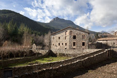 Bagà. Small village in the pyrenees Royalty Free Stock Images