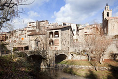 bagà.Small wioska w Pyrenees Fotografia Stock