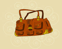 Bag. This illustration can be used as a mark of a store, sold as an article or simply as an illustration Stock Illustration